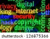 Internet security copyright - stock photo