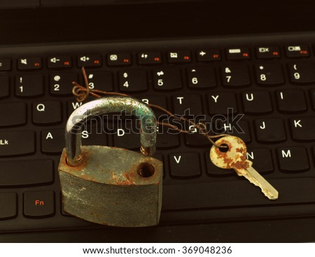 Internet Security - Passwords - stock photo