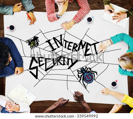Internet Security Web Protection Safety Concept - stock photo