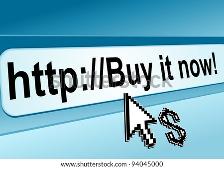 Internet shop page with browser bar for www business or technology concept design. Vector version also available in gallery - stock photo