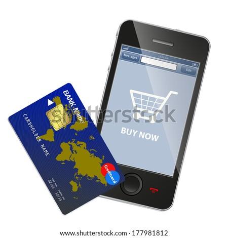 Internet shopping concept - stock photo