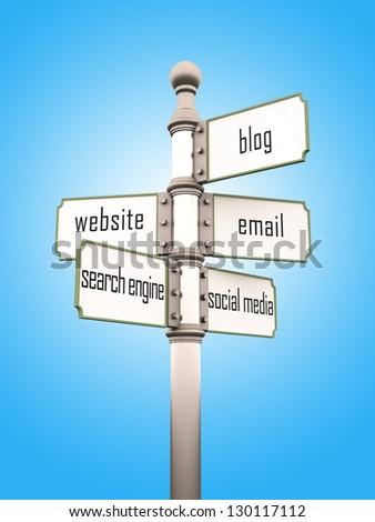 internet sign - stock photo