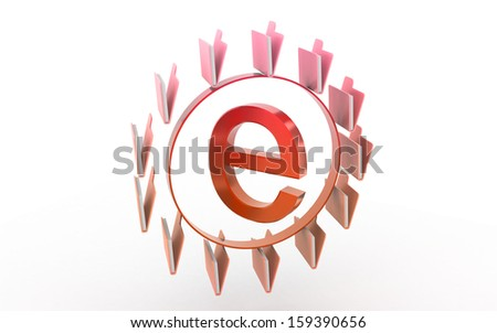 Internet sign with folders isolated on white background - stock photo