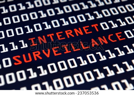 Internet Surveillance  - stock photo