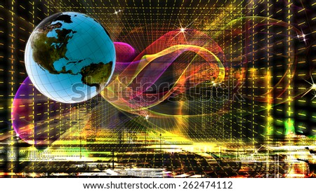 Internet technology.Globalization - stock photo