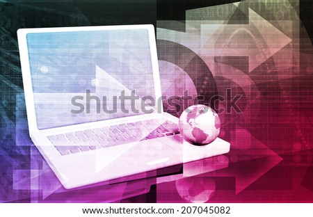 Internet Web Abstract on a Digital Background - stock photo