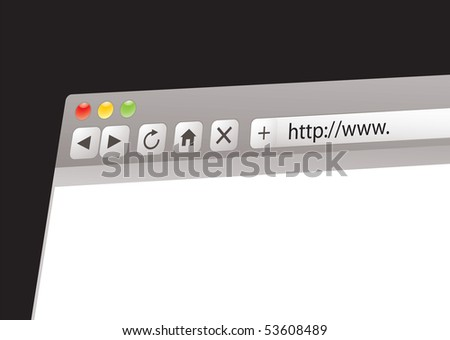Internet web address concept with space for your own text - stock photo