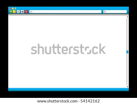 Internet web browser concept with room to add page - stock photo