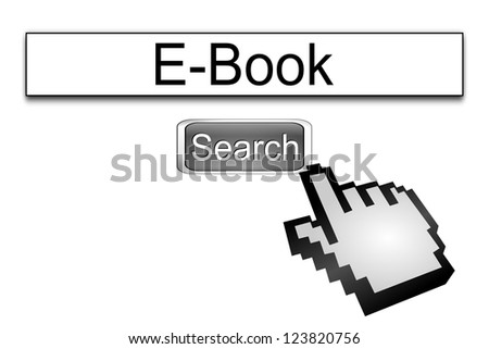 Internet web search engine e-book - stock photo