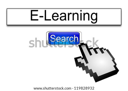 Internet web search engine e-learning