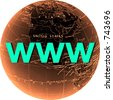 internet, world-wide-web on white - stock