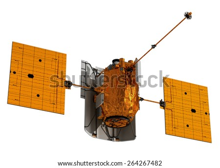 Interplanetary Space Station. 3D Model. - stock photo