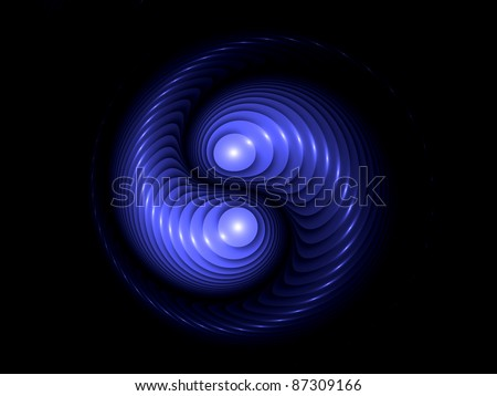 Interplay of abstract form on the subject of virtual reality and fractal geometry - stock photo