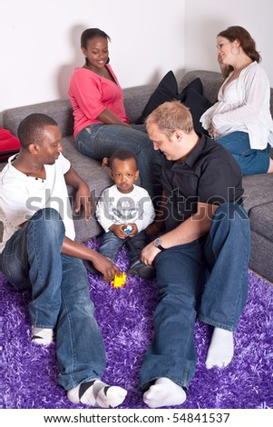 Interracial friends and family