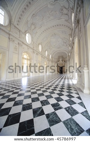 interrior of royal palace Reggia di Venaria - Turin
