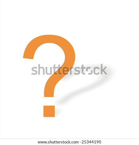 interrogative sign isolated on a white background.