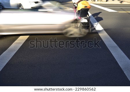 Intersection accident - abstract - stock photo