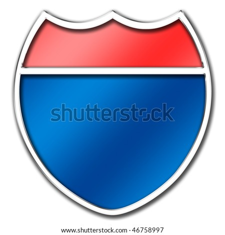 Interstate Freeway Sign - stock photo