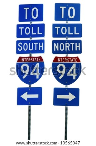 Interstate 94 Road Sign Isolated - stock photo