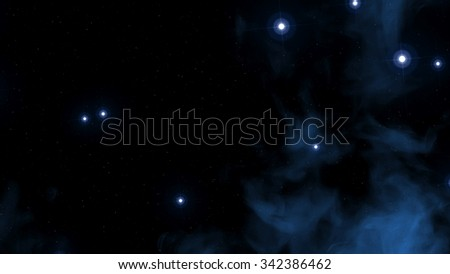 Interstellar Cosmic Background. Images with realistic stars.