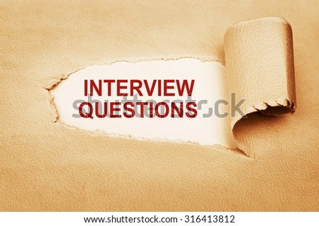 Interview Questions - stock photo