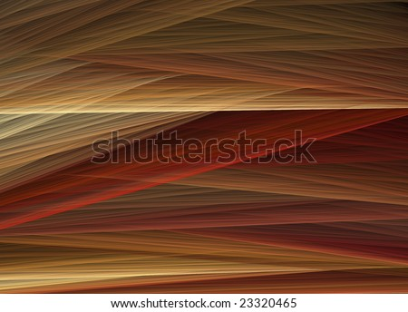 Interwoven threads with red, orange, and earth tones