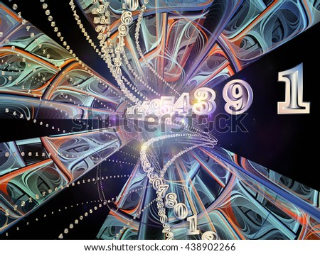 Into Infinity series. Background design of fractal patterns, curves and symbols on the subject of math, technology, science and education - stock photo