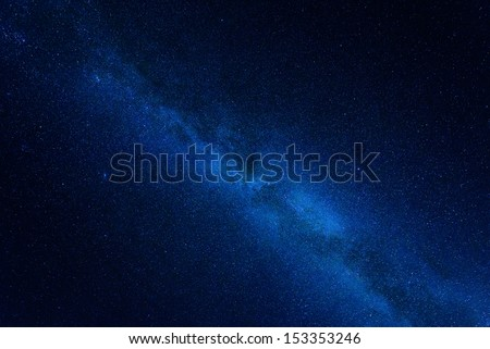 Into the stars, the center of the milky way (September, Sweden) - stock photo