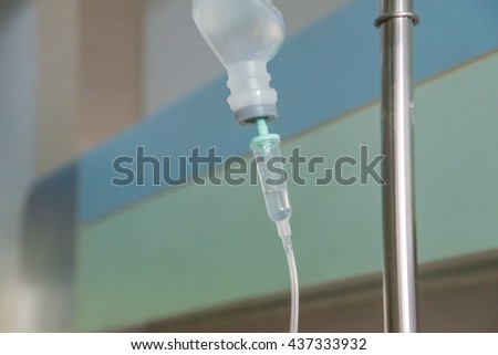 intravenous drip medication in the hospital