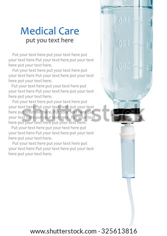 Intravenous infusion drip isolated on white background - stock photo
