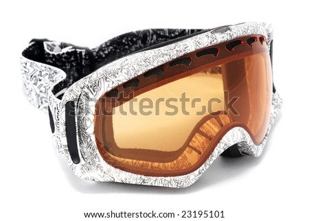 Intresting snowboard mask isolated 2