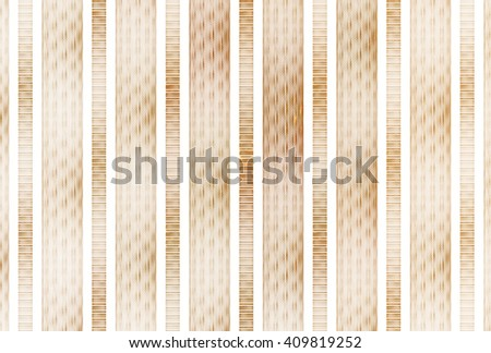 Intricate copper / gold abstract textured stripes on white background  - stock photo