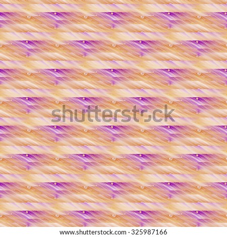 Intricate orange / purple abstract bubble stripes on white background (tile able)  - stock photo