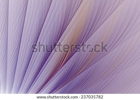 Intricate orange / purple textured membrane / wing on white background - stock photo