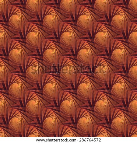 Intricate orange, red , purple and pink woven abstract spiral / tree pattern on black background (tile able) - stock photo