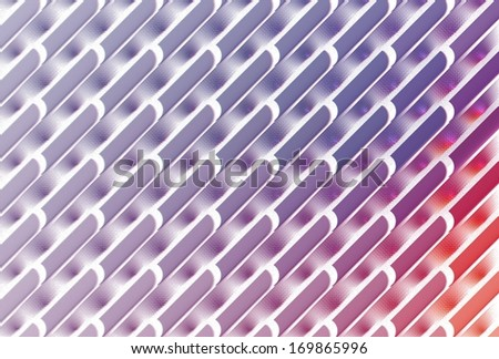 Intricate pink, purple and red abstract woven design on white background - stock photo