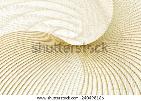Intricate tan / gold abstract woven curve design on white background - stock photo
