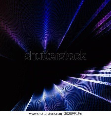 Intriguing unusual abstract techno background with elements of metal - stock photo