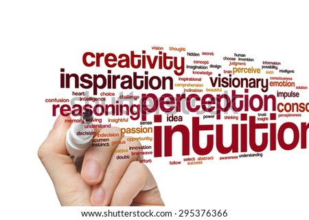 Intuition word cloud background - stock photo