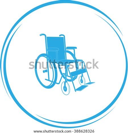invalid chair. Internet button. Raster icon. - stock photo