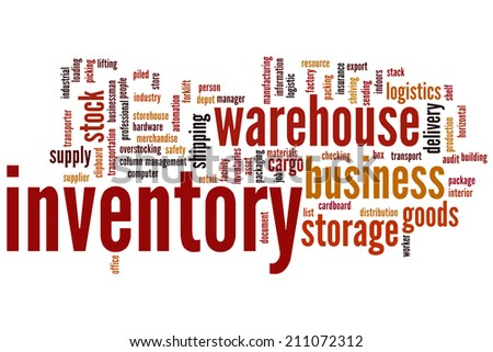 Inventory concept word cloud background - stock photo