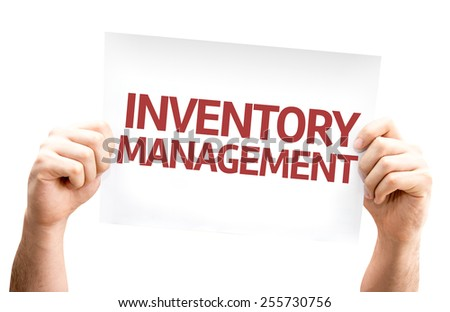 Inventory Management card isolated on white background - stock photo