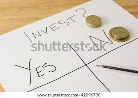 Invest? - stock photo