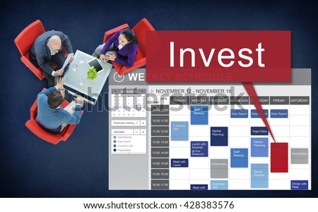 Invest Assets Banking Economy Financial Profit Concept - stock photo