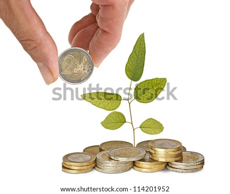 Investing to green business - stock photo