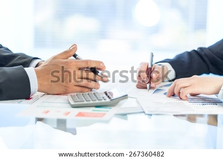 Investment. Accounting. - stock photo