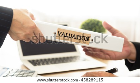 Investment adviser send business valuation document file to a businessman.