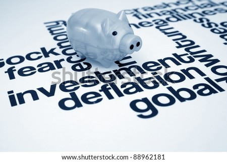 Investment and deflation - stock photo