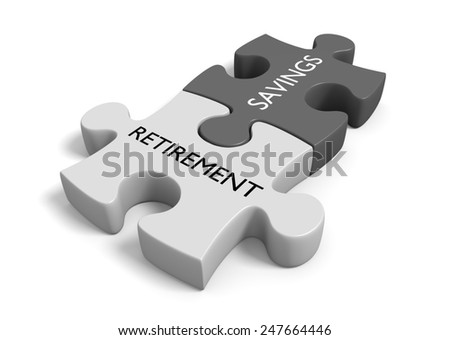 Investment and savings fund planning for future retirement - stock photo
