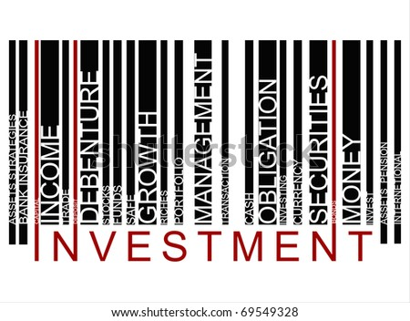 INVESTMENT bar code - stock photo